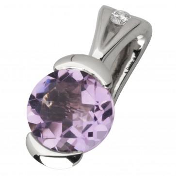 Підвіска з діамантами та кольоровим камінням 989-0592