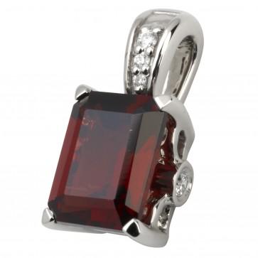 Підвіска з діамантами та кольоровим камінням 989-0615