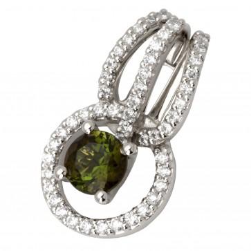 Підвіска з діамантами та кольоровим камінням 989-0638