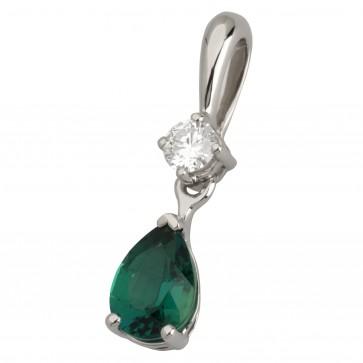 Підвіска з діамантами та кольоровим камінням 989-0656