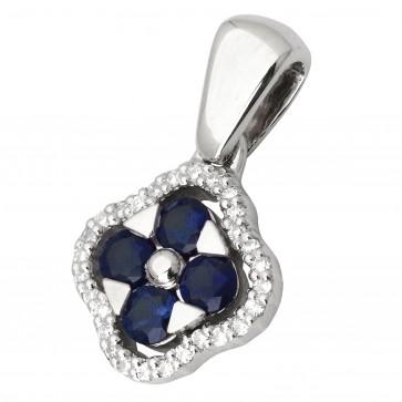 Підвіска з діамантами та кольоровим камінням 989-0675
