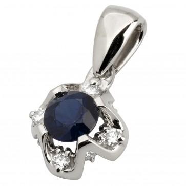 Підвіска з діамантами та кольоровим камінням 989-0720