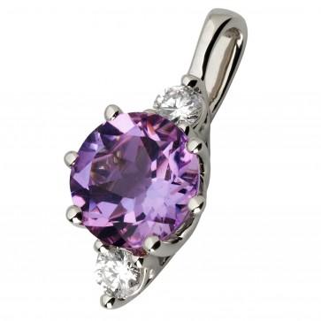 Підвіска з діамантами та кольоровим камінням 989-0763