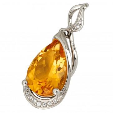 Підвіска з діамантами та кольоровим камінням 989-0803