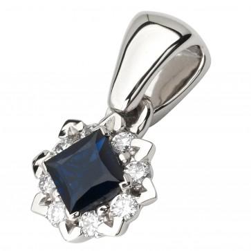Підвіска з діамантами та кольоровим камінням 989-0830
