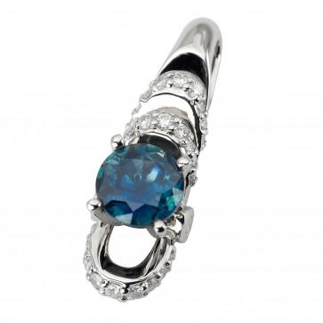 Підвіска з діамантами та кольоровим камінням 989-0836