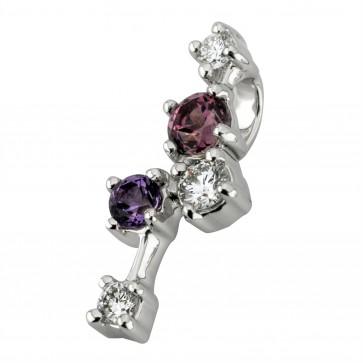 Підвіска з діамантами та кольоровим камінням 989-0853
