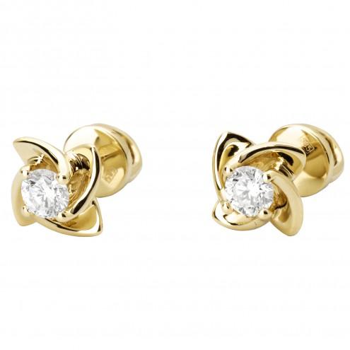 Сережки з 1 діамантом 022-1022