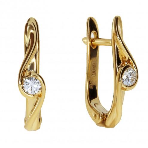 Сережки з 1 діамантом 022-1204