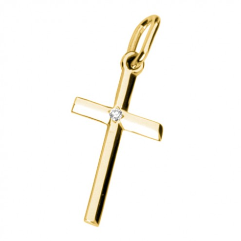 Хрест з 1 діамантом 029-0035