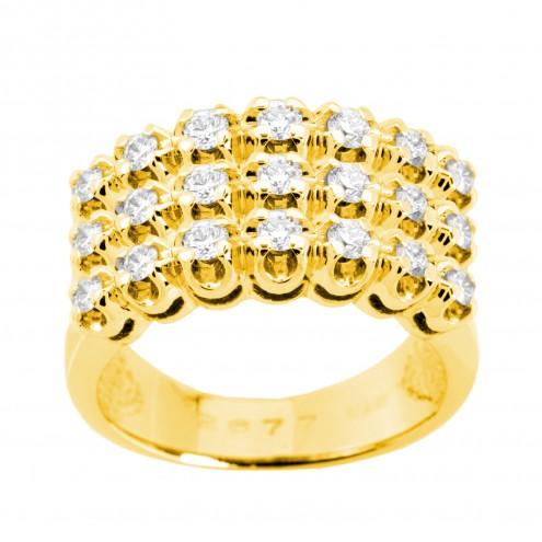 Каблучка з декількома діамантами 041-0513