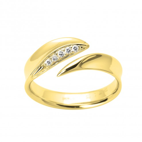 Каблучка з декількома діамантами 041-1603