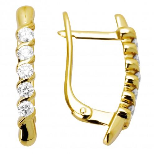 Сережки з декількома діамантами 042-0528