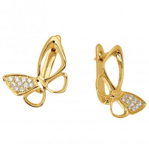 Сережки з декількома діамантами 042-0848