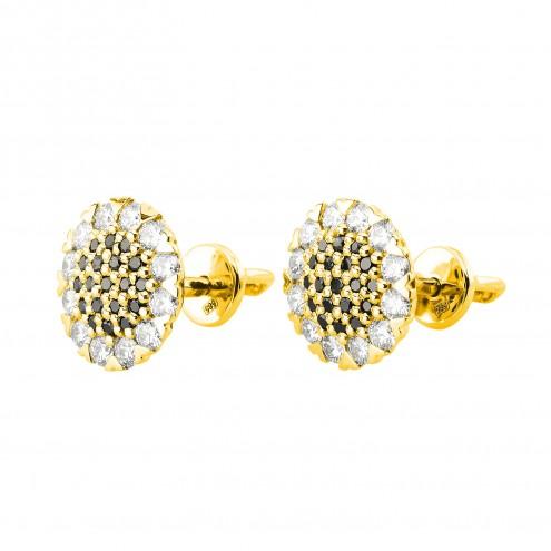 Сережки з декількома діамантами 042-0975