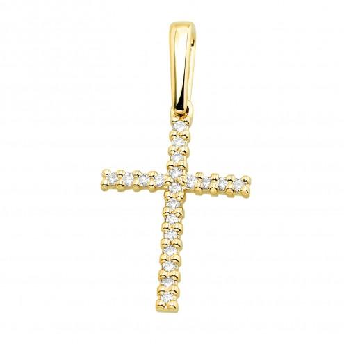 Хрест з декількома діамантами 049-4005