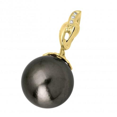 Підвіска з перлиною та діамантами 069-0310