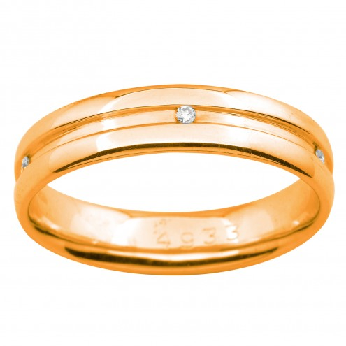 Обручка з декількома діамантами 141-0909