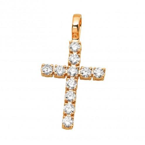 Хрест з декількома діамантами 149-4010