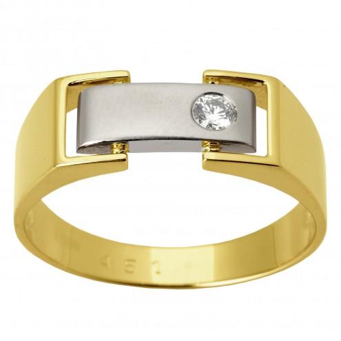 Перстень з 1 діамантом 321-1343