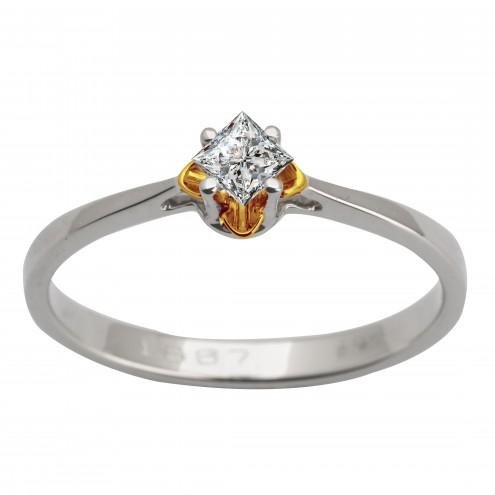 Каблучка з 1 діамантом 321-1615.12