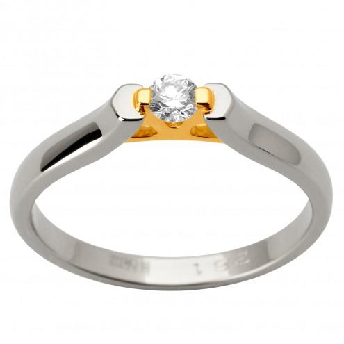 Каблучка з 1 діамантом 321-1682