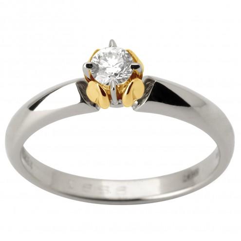 Каблучка з 1 діамантом 321-1775
