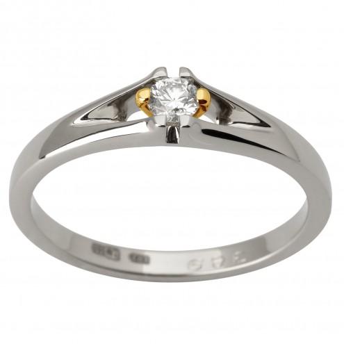Каблучка з 1 діамантом 321-1790