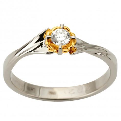 Каблучка з 1 діамантом 321-1885
