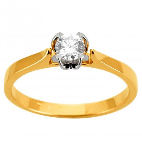 Каблучка з 1 діамантом 321-1925