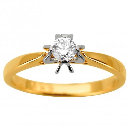 Каблучка з 1 діамантом 321-1937