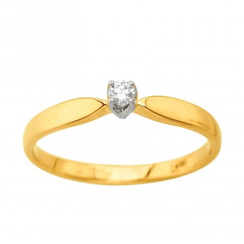 Каблучка з 1 діамантом 321-2194