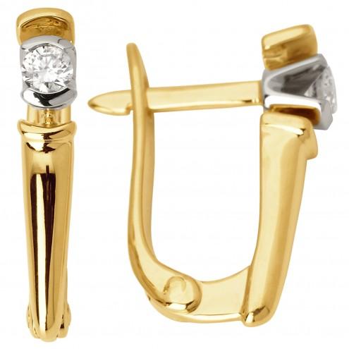 Сережки з 1 діамантом 322-0824