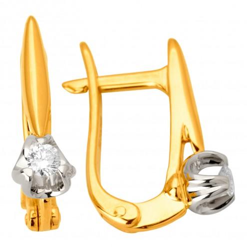 Сережки з 1 діамантом 322-0959