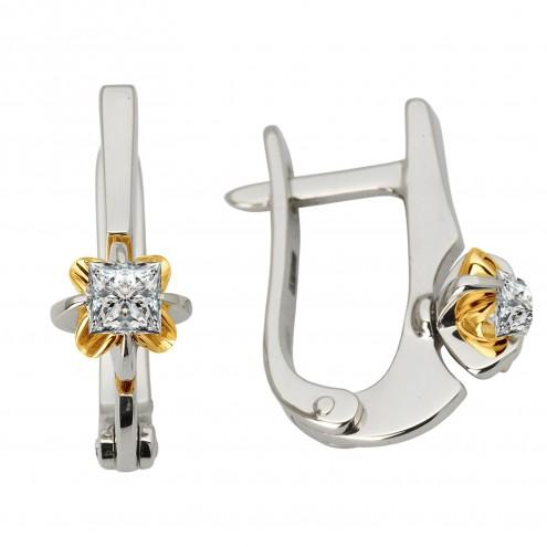 Сережки з 1 діамантом 322-1083.12
