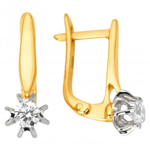 Сережки з 1 діамантом 322-1182