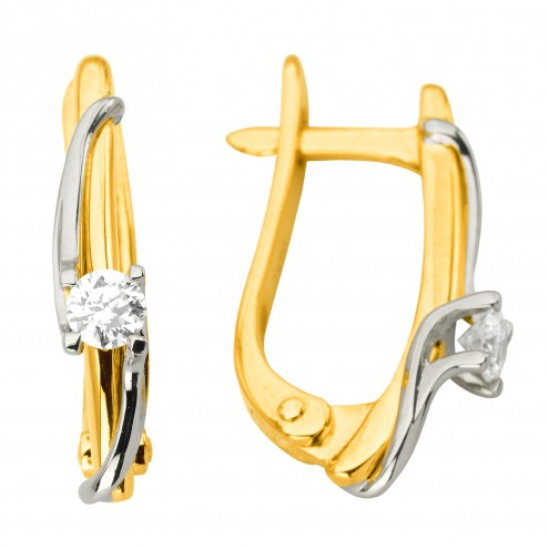 Сережки з 1 діамантом 322-1202