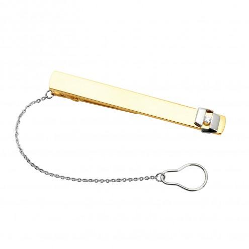 Затискач для краватки з 1 діамантом 325-0065