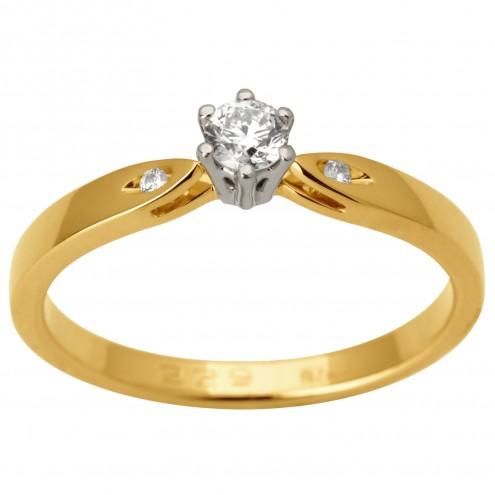 Каблучка з декількома діамантами 341-1693