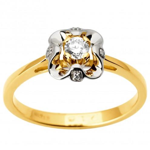 Каблучка з декількома діамантами 341-1714