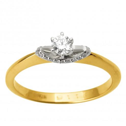 Каблучка з декількома діамантами 341-1734
