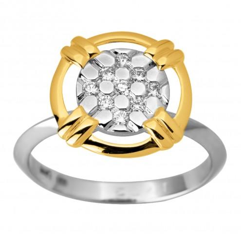 Каблучка з декількома діамантами 341-1795
