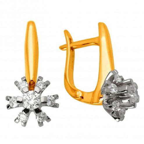 Сережки з декількома діамантами 342-0894