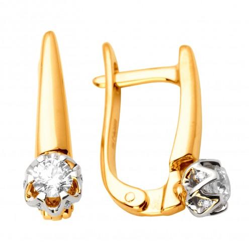 Сережки з декількома діамантами 842-0912