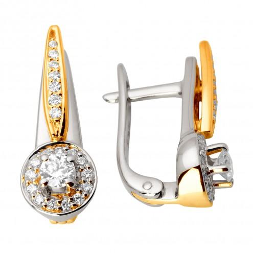 Сережки з декількома діамантами 342-0919