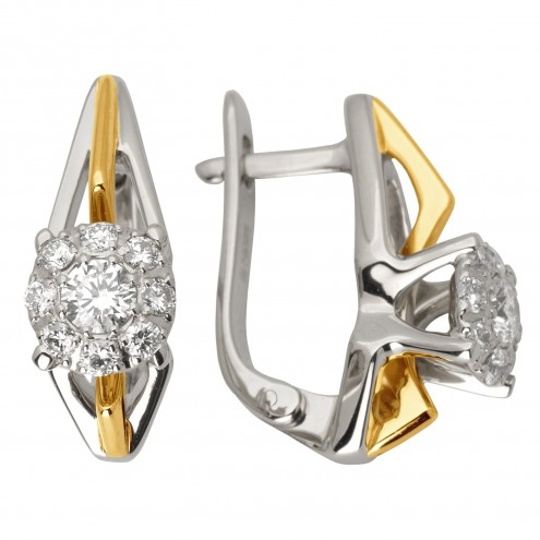 Сережки з декількома діамантами 342-0976