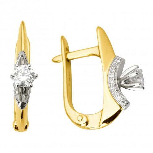 Сережки з декількома діамантами 342-0992