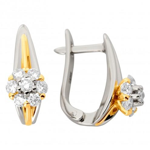 Сережки з декількома діамантами 342-1162