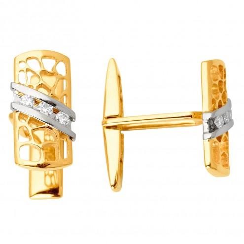 Запонки з декількома діамантами 346-0081