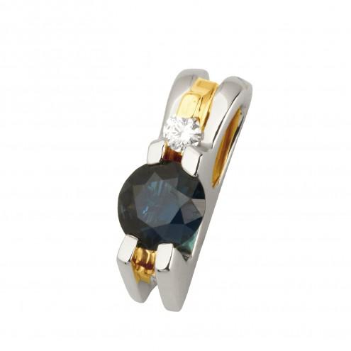 Підвіска з діамантами та кольоровим камінням 389-0660